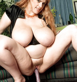 Blonde BBW Kore Goddess unveils massive saggy tits and hairy cunt