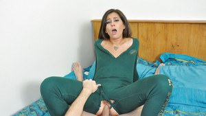 Kaci Castle gives CFNM blowjob before taking painful ass fucking