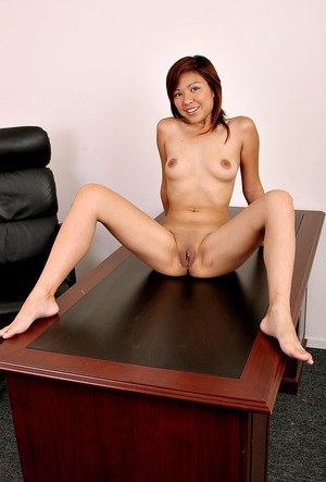 Petite Asian amateur revealing small boobs and shaved vagina