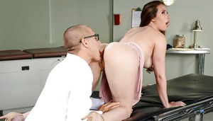 Thin girlfriend Casey Calvert takes hardcore anal sex from doctor boyfriend