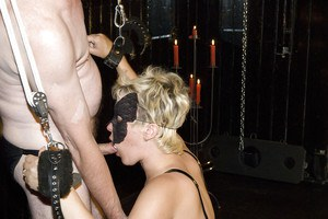 Amateur BDSM models Karin Wild and Titti Tut take whippings and spankings
