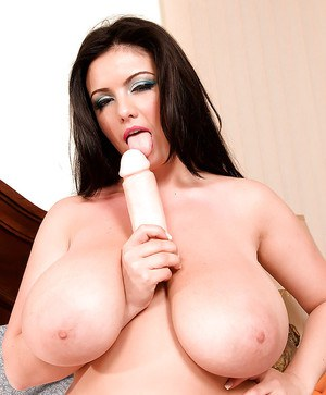 European BBW Arianna Sinn exposing massive juggs before toying pussy