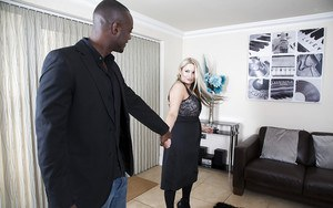 Kaz B offers her white ass for hardcore interracial fucking from BBC