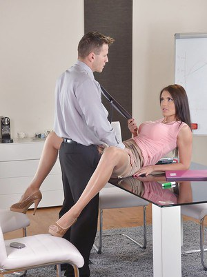 Busty Euro secretary Kitana Lure giving bj in office before hardcore sex