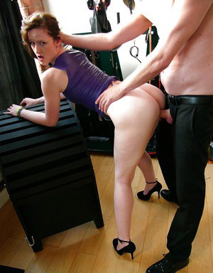 Busty French amateur Vivienne L'Amour taking hardcore fucking in high heels