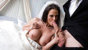 European MILF Simony Diamond taking anal sex in wedding dress from big cock
