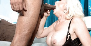 Over 40 blonde lady Madison Paige banging BBC during interracial sex