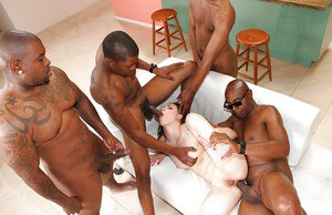 Pornstar Casey Calvert takes anal from BBC during interracial gangbang