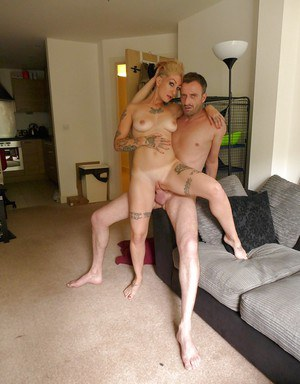 Tattooed amateur Miss Trixx taking rough ass fucking after giving blowjob