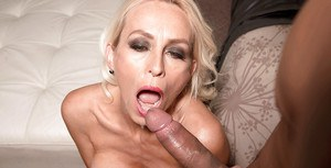 Busty over 40 MILF Brandi Anderson banging huge dick during interracial sex