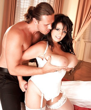 Euro MILF Arianna Sinn having nice melons released from wedding dress