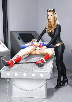 Pornstars Tanya Tate and Amanda Tate have lesbian sex in cosplay outfits