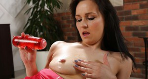 European solo model Ally Style toying wide open cunt while fingering anus