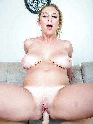Brooke Wylde takes cumshot on large all natural tits after fucking big dick