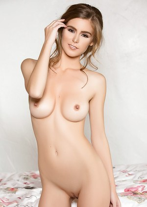 Beautiful centerfold model Amberleigh West revealing big natural boobs