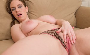 Chubby mom Eden freeing big natural boobs and hairy cunt in high heels