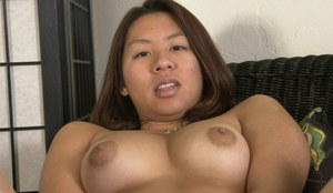 Latina mom Sandy revealing swollen breasts and hanging labia lips