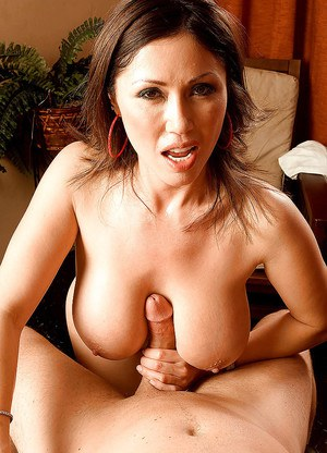 Asian mom Kianna Dior blowing and tit fucking big cock for cumshot on tits