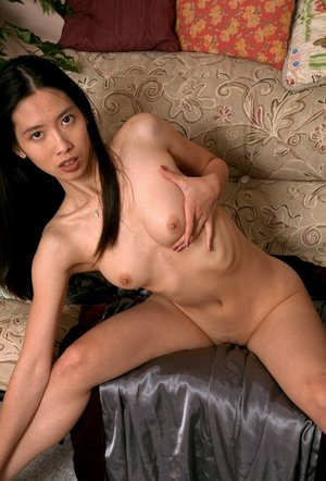 Asian first timer Pauline revealing small boobs while undressing to pose nude