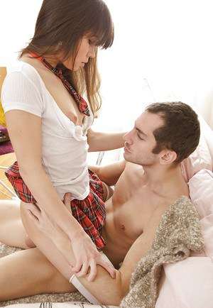 Barely legal teen Aliya having tight pussy licked and penetrated in stockings