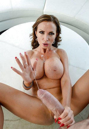 Big boobed MILF Nikki Benz having shaved vagina penetrated by large cock