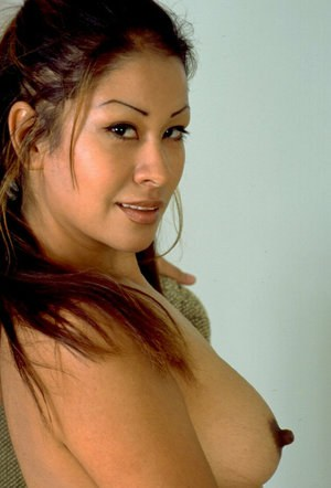 Asian first timer Valerie unveiling perky tits and erect nipples