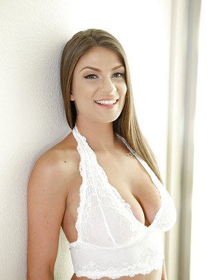Beautiful solo model Dillion Carter letting nice tits and pink cunt loose