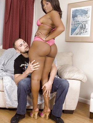 Ebony female Kara Kane has her fat booty penetrated by white love muscle