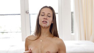 Ex-girlfriend Cassidy Klein getting banged on sofa before taking jizz facial