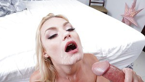 Natural-titted blonde Inga Victoria makes love doggy style