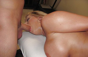 Heather Summers has large boobs oiled by masseuse before giving blowjob