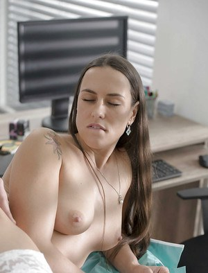 Mea Melone enjoys hard sex with the boss during sex experience at work