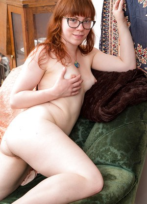 Redhead amateur sex nude scenes with her furry pussy and ass