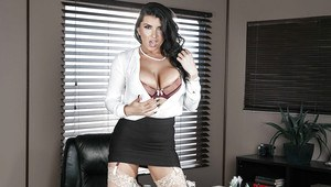 Office Worker Romi Rain Showing Off Hooters After