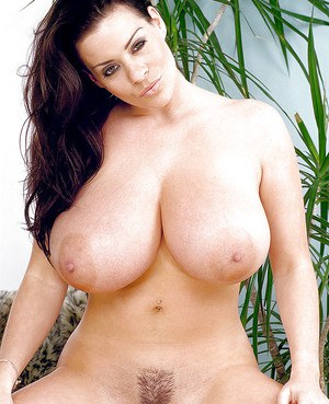 Euro mommy Linsey Dawn McKenzie displaying massive boobs in white socks