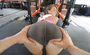 Appealing Jill Kassidy tries amazing workout with a huge cock in POV style