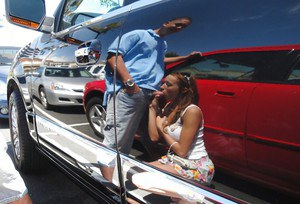 Young Girl Victoria Rae Black Giving Blowjob In Car Parking Lot