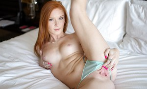 Redhead in fine lingerie Alex Tanner reality amateur cam video