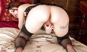 Tiffany Naylor enjoys rubbing her furry love holes in such spicy modes