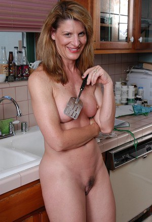 Dirty mature Linda would love something stiff in her furry little pussy