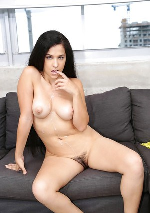 Annika Eve throats cock in advance to getting her bush pumped well