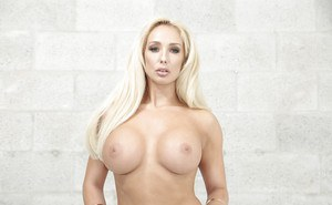 Sensual nudity play along blonde goddess with big boobs Olivia Fox