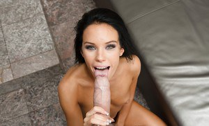 Megan Rain grabs cock for a perfect POV anal porn play and blowjob