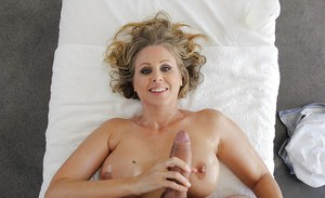 Mature blonde chick Julia Ann getting fucked and jissez on by her masseur