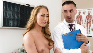 Blonde chick Carter Cruise getting fingered and fucked by her doctor