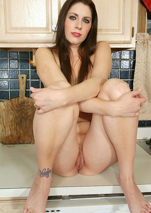 MILF with long hair Dahlia amazing nudity and teasing in the kitchen