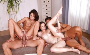 Real home porn in foursome anal scenes with Nikita Bellucci and Kristy Black