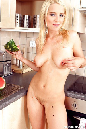Jaw dropping nudity kitchen scenes along busty blonde Flower