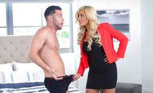 Amazing MILF Nina Elle mind bliwing reality hard sex in the bedroom