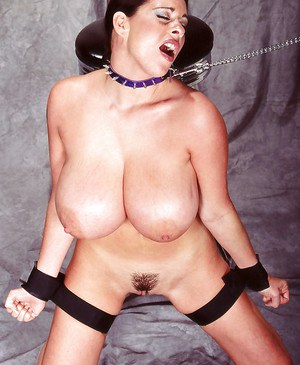 Collared MILF Linsey Dawn McKenzie undergoing BDSM training